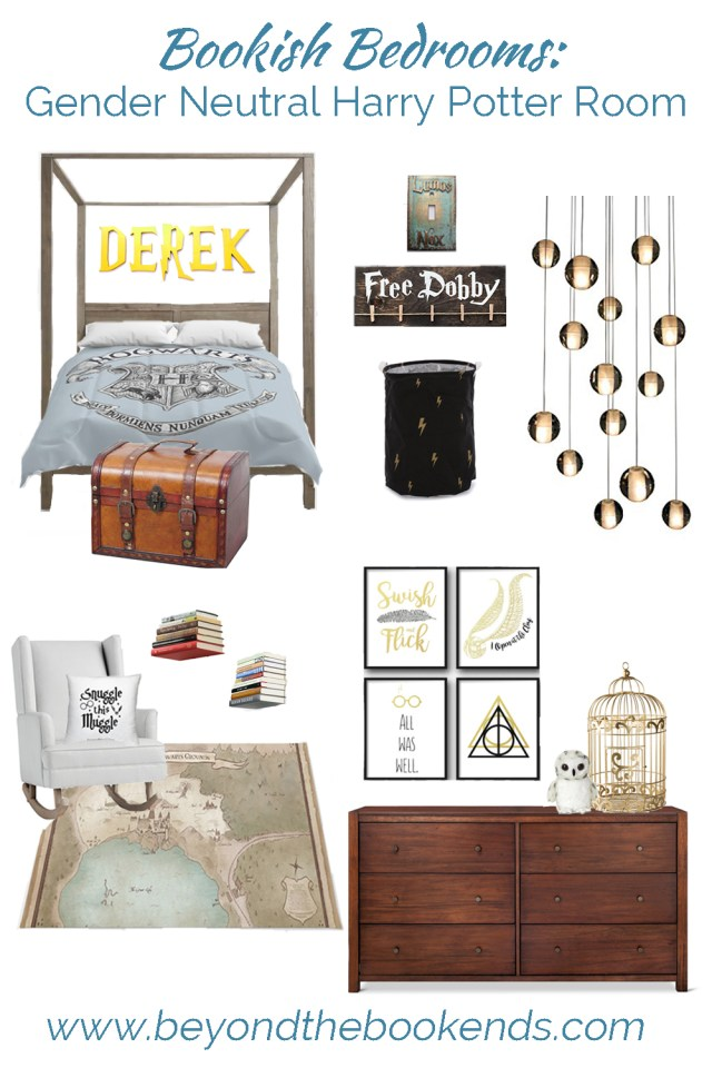 Looking for a fun and modern Harry Potter nursery? Or maybe a Harry Potter bedroom or wizard teen room? We've got this modern neutral room for your favorite Hogwarts Fan!