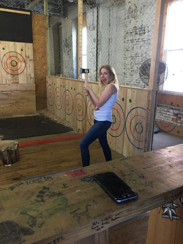 Getting ready to throw axes like a boss.