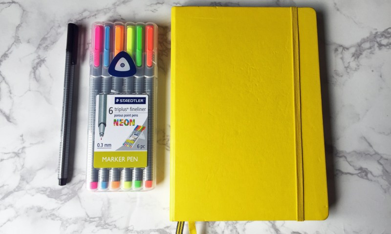 Minimum supplies needed for the Bullet Journal.