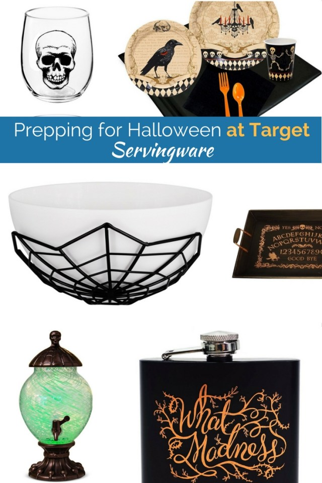 Prepping for Halloween can be fun and affordable! We love the serving platters, beverage dispensers and more from Target!