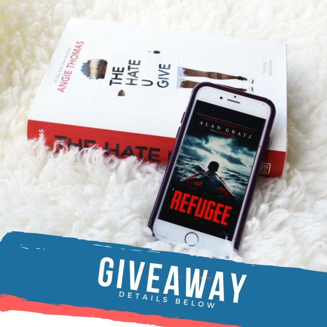 Enter for your chance to win 2 of the hottest books of 2017. The Hate U Give by Angie Thomas and Refugee by Alan Gratz