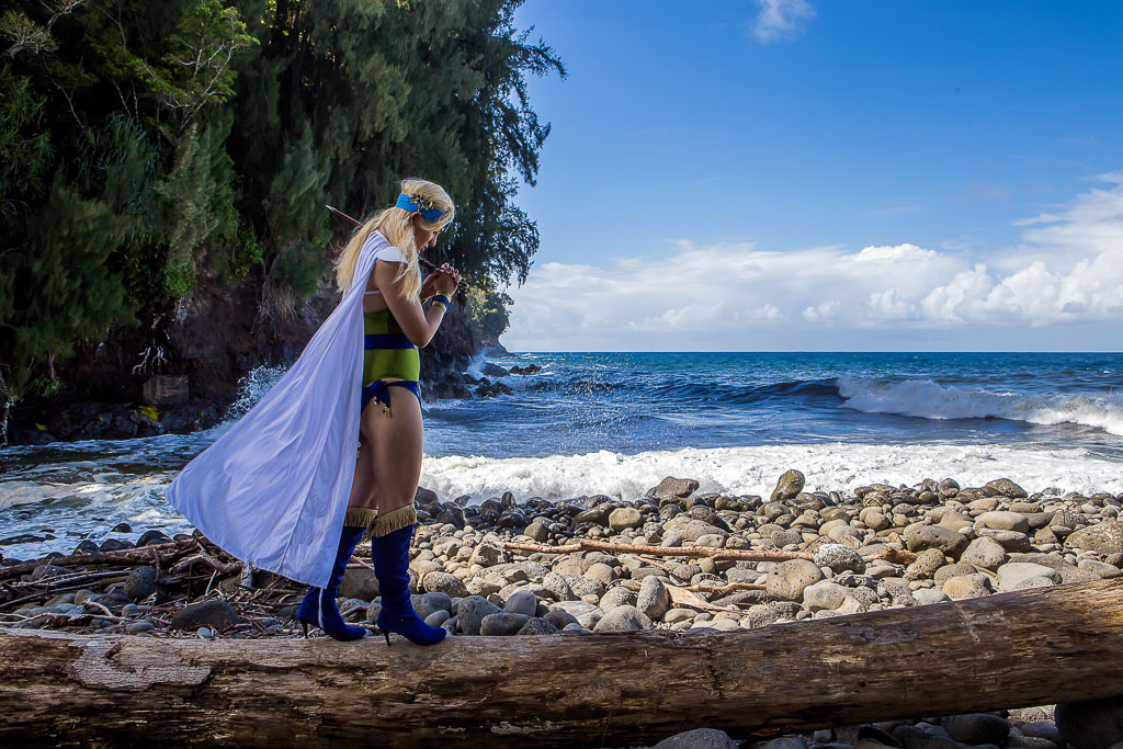 Hawaii Conceptual Portrait cosplay photography near ocean