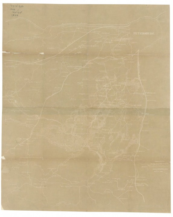 Map of Dinwiddie and parts of Prince George and Sussex counties, Virginia: November 2, 1864