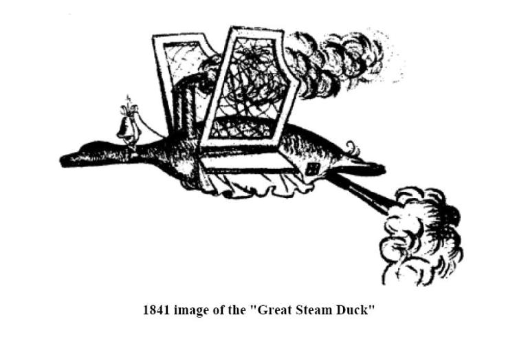 "1841 image of the ""Great Steam Duck"""