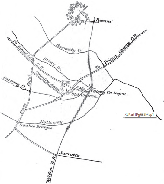 Vicinity Of Reams Station (OR XL, Part 1, Page 632)