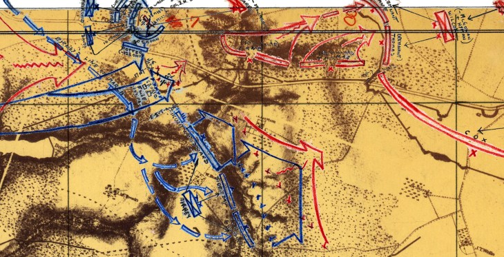 Bearss Petersburg Maps Battle of Fort Gregg April 2 1865 Zoomed In w 730