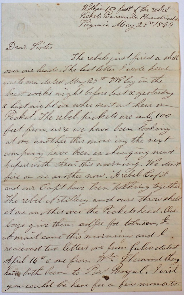 18640528 Elias Peck 10th CT Letter Page 1