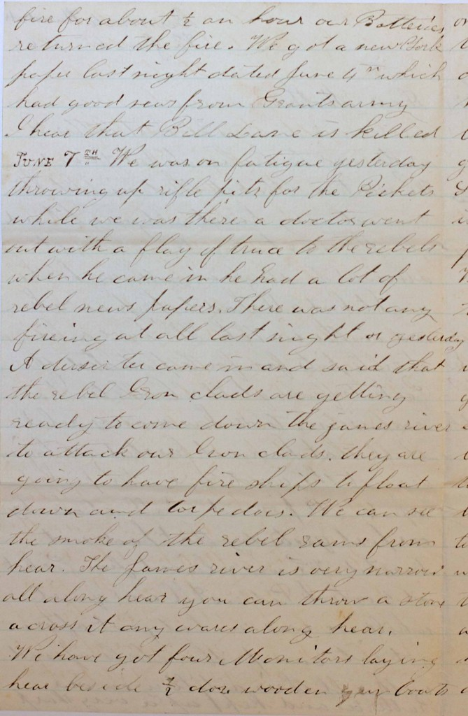 18640606 Elias Peck 10th CT Letter Page 2