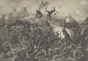 Ambrose Burnside's Ninth Corps, the 35th Massachusetts included, were nomads during the Civil War.  They participated in the Siege of Vicksburg in mid-1863.