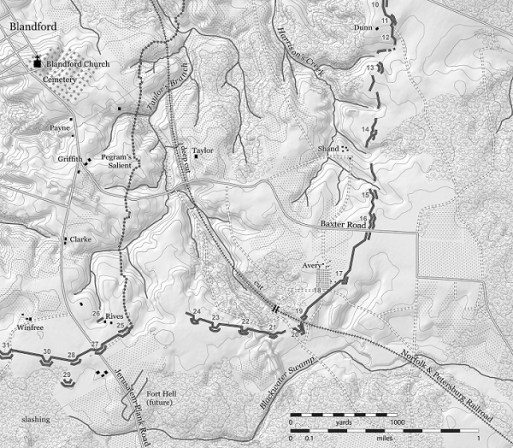 Base Map, Area of Chamberlain's Attack