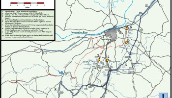 Map Battle Of Squirrel Level Road 1 October 1864 16th Infantry - Map-of-us-in-1865