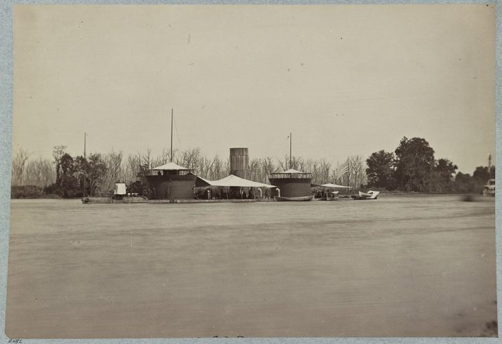 "33961v: Double turretted i.e. turreted monitor ""Onondaga"", James River, Va."