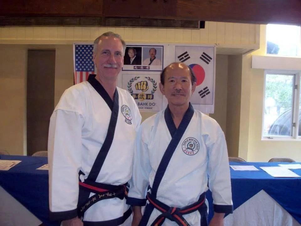 Steven Lemner SBN with KJN H.C. Hwang of the Moo Duk Kwan