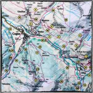 Cogne_Italy_Map