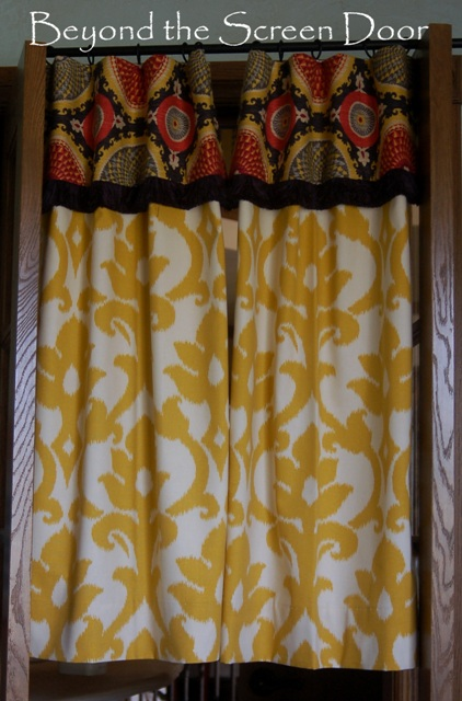 Yellow And Red Kitchen Curtains