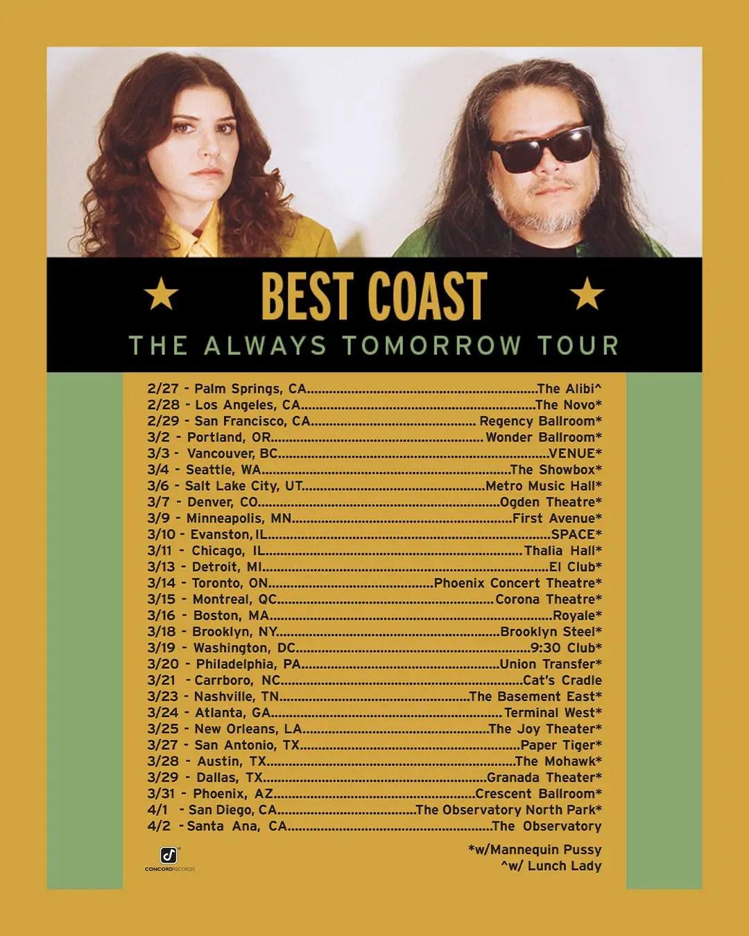 Best Album 2020.Best Coast Announce New Album And 2020 Tour Beyond The