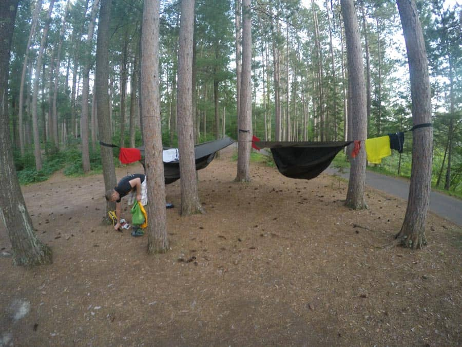 camping in the hennessy hammock