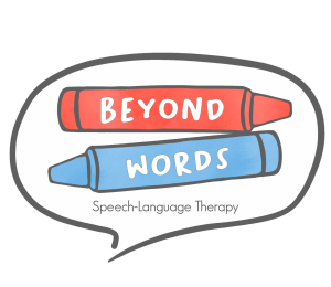 Beyond Words Speech Language Therapy logo speech bubble