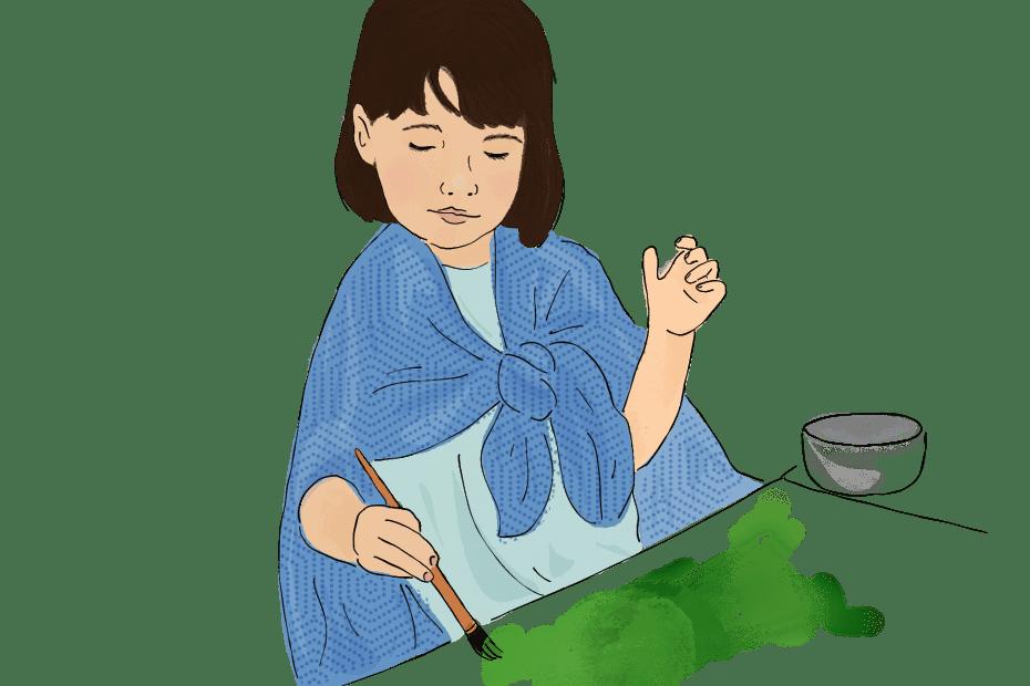 Speech Language Therapy Resource Image, Child painting