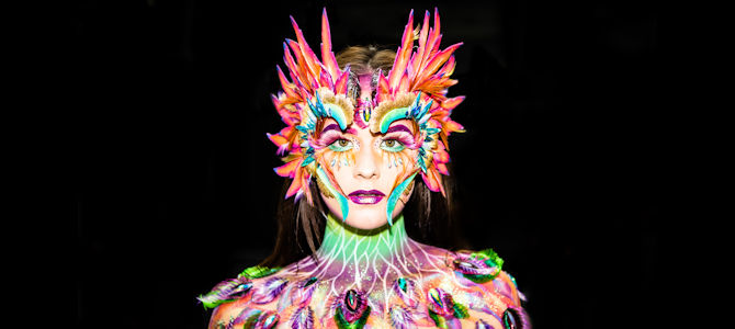 Artistic Feathered Costume
