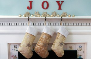 Holiday Mantle With Stockings - Photo by Personal Creations