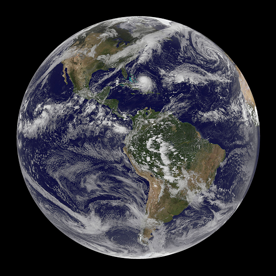 Earth - Photo by NASA/NOAA GOES Project