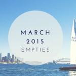 March 2015 Empties