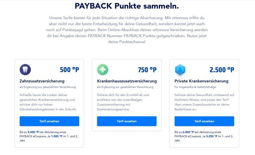 Payback Punkte mit der Ottonova Krankenversicherung sammeln