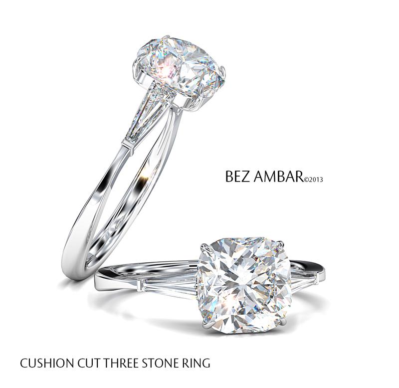 Radiant Vs Cushion Cut Diamond Engagement Rings