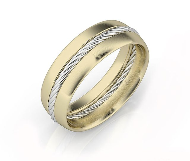 Show Information About The Snippet Editor Snippet Preview Mens White And Yellow Gold Wedding Band