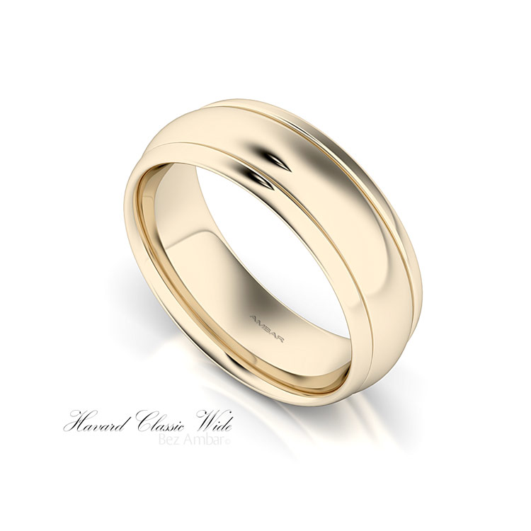 8mm mens yellow gold wedding band