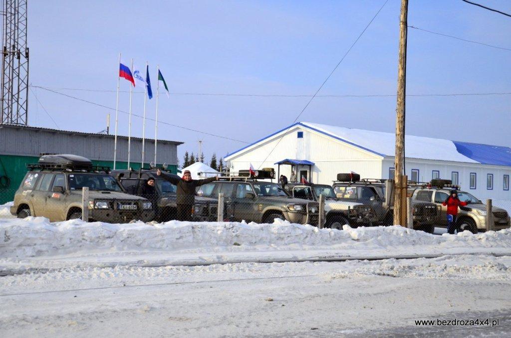 Nocleg w bazie Gazpromu - bardzo miło nas przyjęto