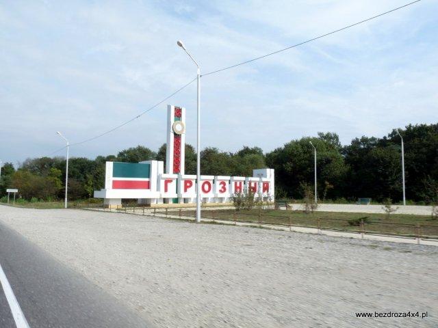Grozny - wjazd do miasta