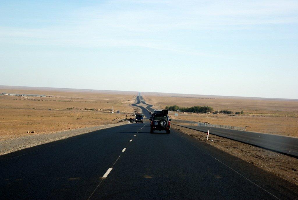 Chińska autostrada w Kazachstanie