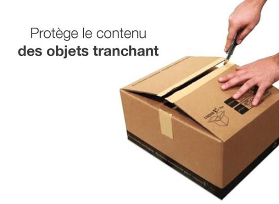 Carton avec fermeture intelligente