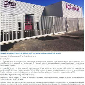 Presse – Beziers Box sur Hérault Tribune