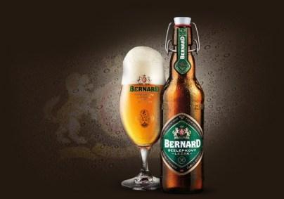 pivo bez lepku Bernard