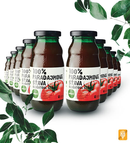 zdravo paradajková šťava 10 kusov