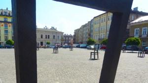 Heldenplein in het getto van Krakow - bezoek krakau . nl