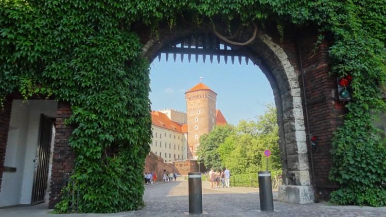 Historische doorgang in Wawel kasteel, Krakow