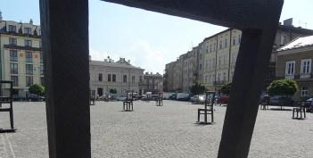 Stoelen Ghetto Krakow - podgorze wijk krakau