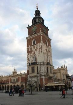 rynek glowny - stadhuistoren - krakow