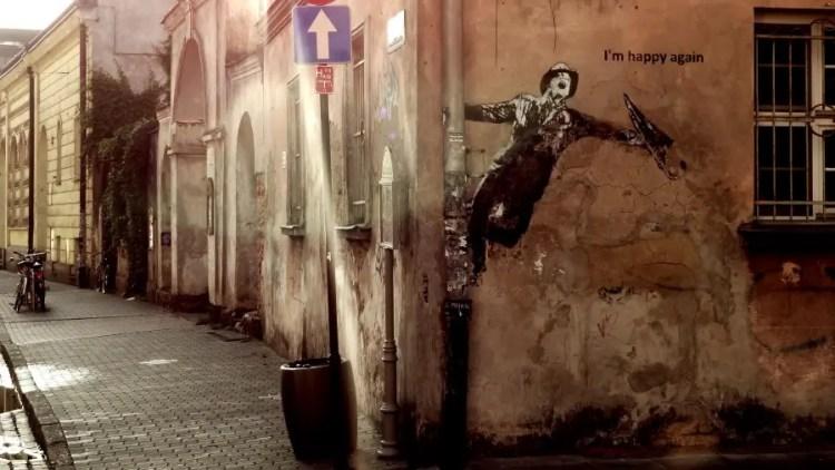 Bekende streetart in Kazimierz - Bezoek Krakau