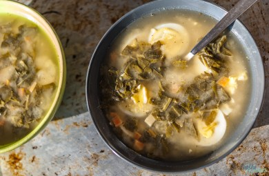 zupa szczawiowa w wersji fit