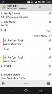 Car Mode exit task