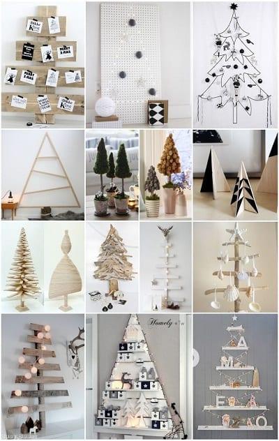 Resultado de imagen para arboles de navidad improvisados