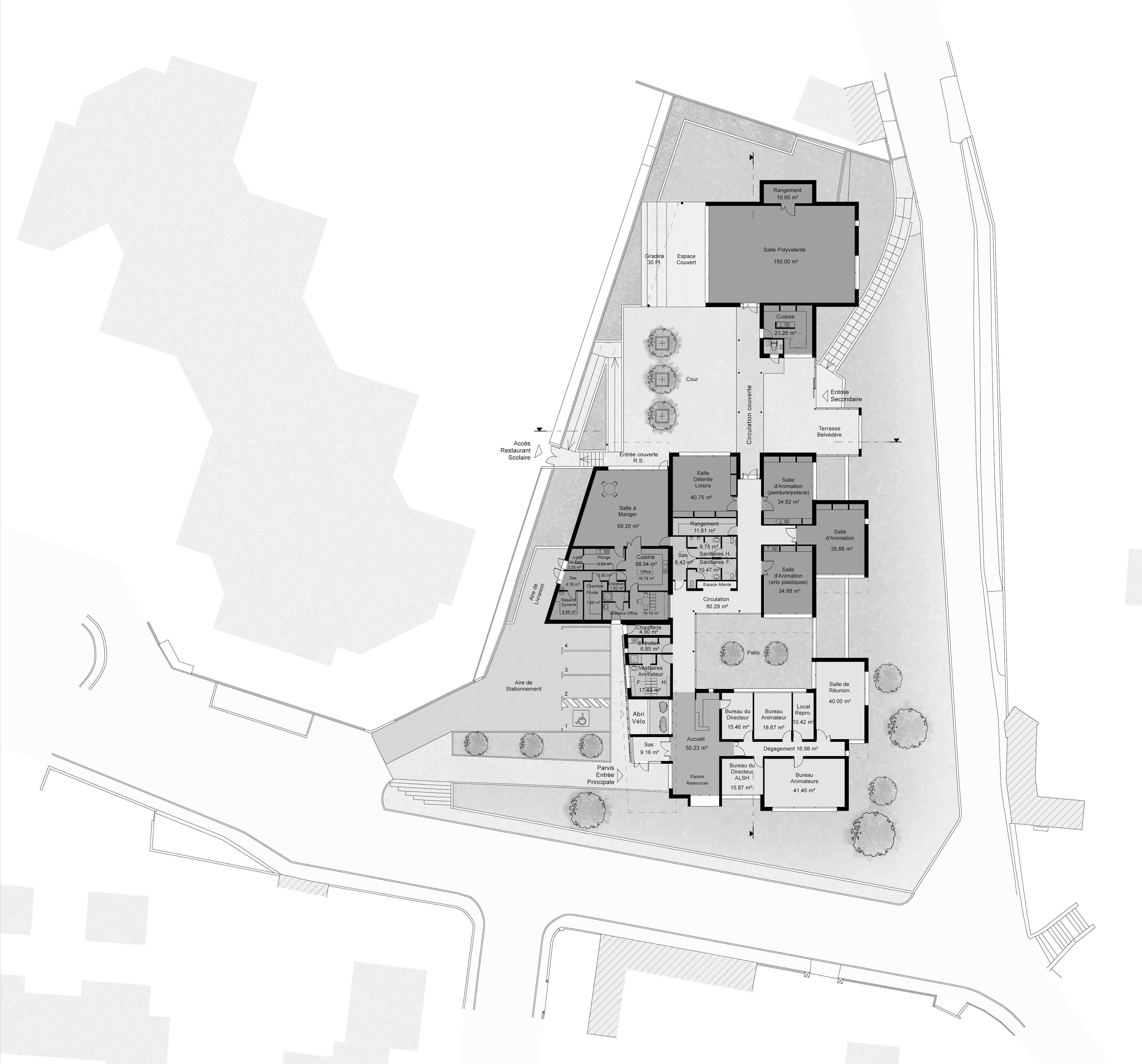 Maison de quartier Béziers BF Architecture 13