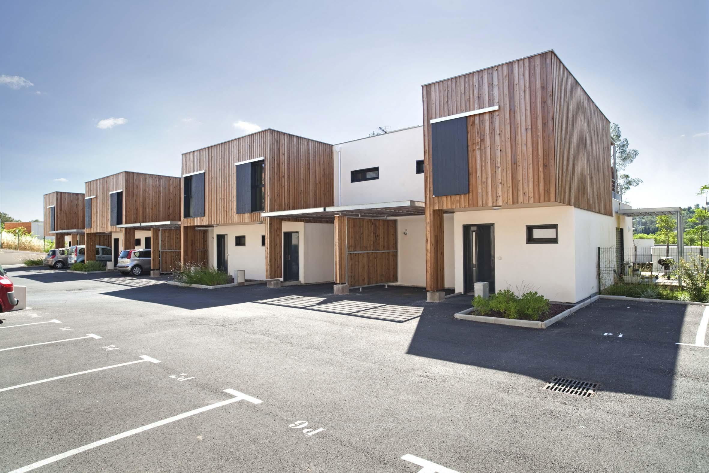 Maison mitoyenne ossature bois Hérault BF Architecture 1