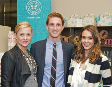Christopher, wife Jessica Capshaw and co-founder Jessica Alba