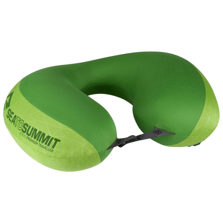sea to summit aeros premium traveller pillow lime one size